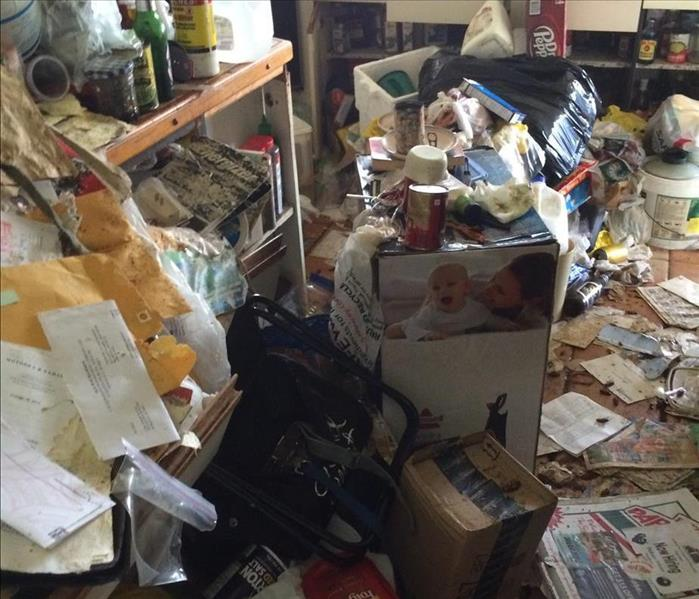 Hoarder's residence cleanup